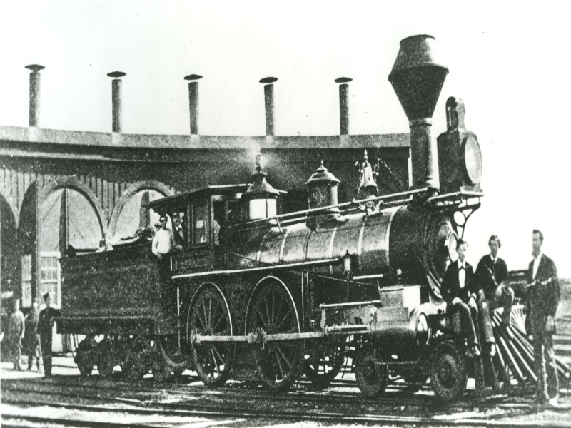 484 Terrace Locomotive and Sheds 1870.jpg